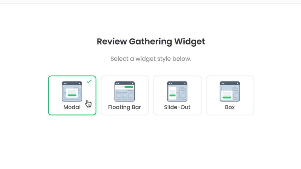 Review Gathering widget