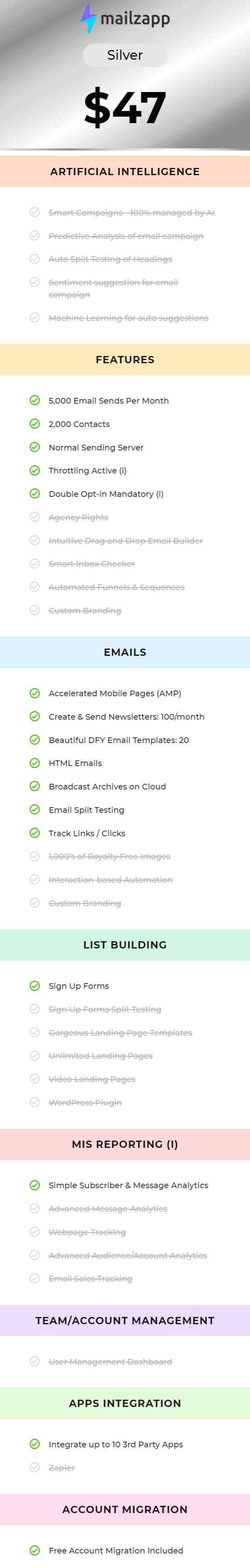 Mailzapp-Price-options