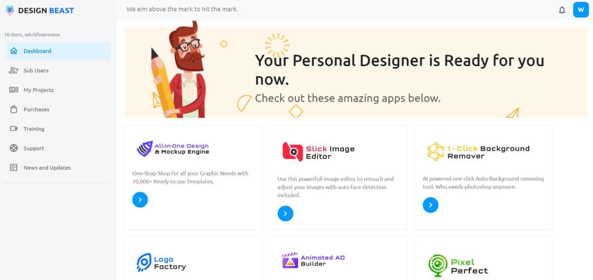 DesignBeast Dashboard